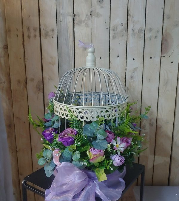 Bird cage lilac & purple