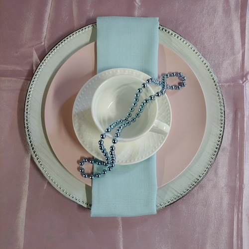 Crockery White Patterned