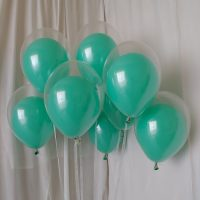 Mint party decor