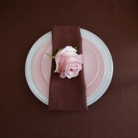 brown table setting