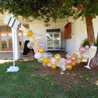 Champagne bubble decor for hire