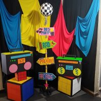 80's theme photobooth