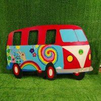 Hippie bus photoboard