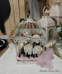 square bird cage creme medium