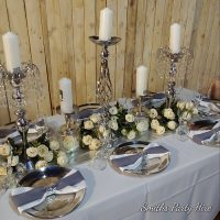 Silver table decor Alberton