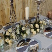 Silver table decor boksburg