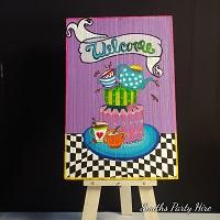 Alice in wonderland welcome board