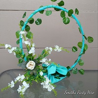 Tiffany blue centrepiece