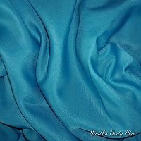 Turquoise blue draping