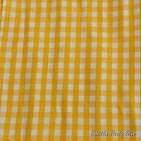 Yellow check napkin