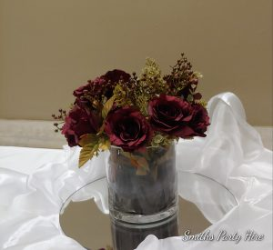 Burgundy wedding flowers Boksburg