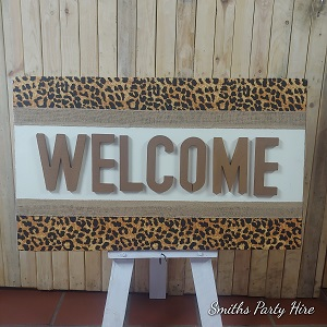 African welcome board