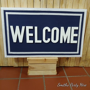 Nautical welcome board