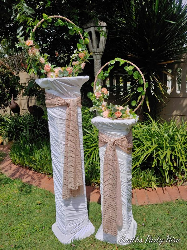 Rose gold party decor for hire