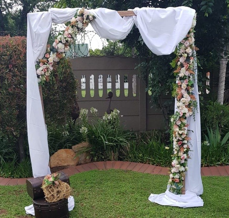 Wooden bridal arch