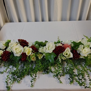 Burgundy wedding decor Boksburg