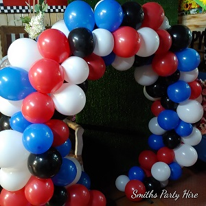 Captain America balloon circle