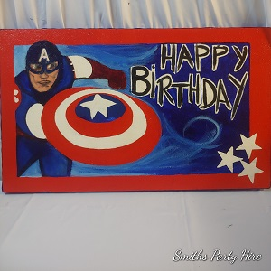 Captain America birthday board