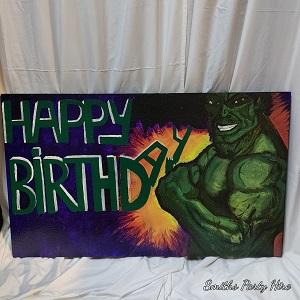 Hulk birthday board