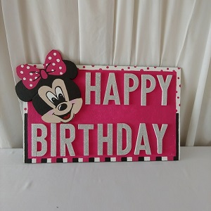 Minnie mouse birthday board