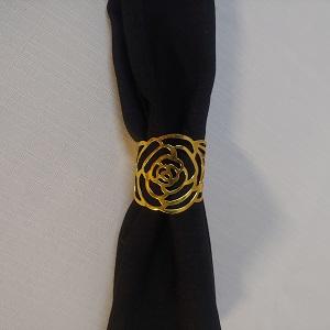 Napkin ring gold rose