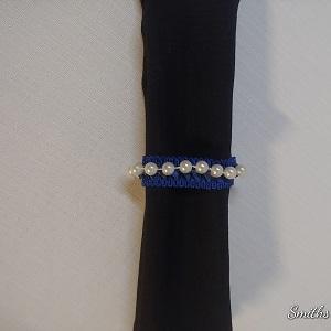Napkin ring royal blue