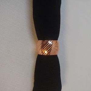 Napkin ring rose gold solid