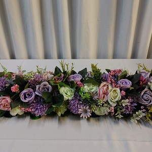 Purple flower runner 1.5m