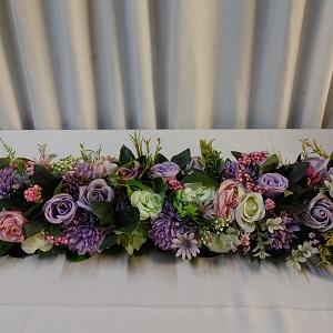 Purple flower runner 1.5m