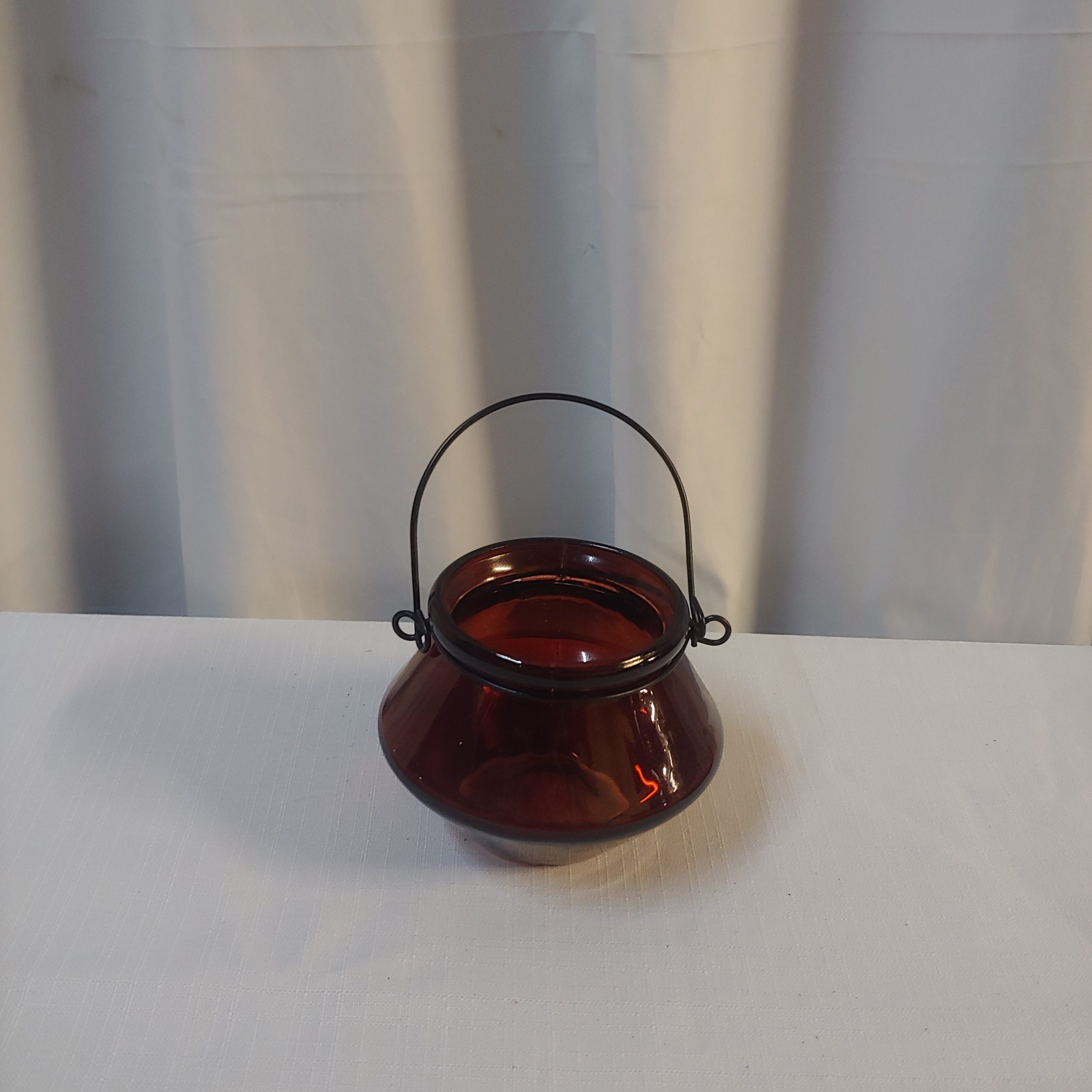 Red glass lantern small
