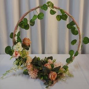 Wedding circle rose gold