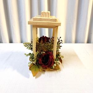 Wooden lantern burgundy