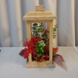 Wooden lantern red