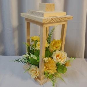 Wooden lantern yellow