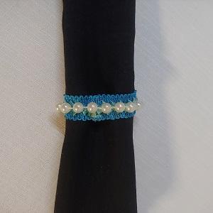 Napkin ring turquoise blue