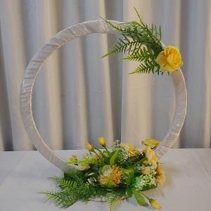 Wedding circle yellow