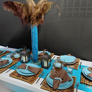 Brown table decor