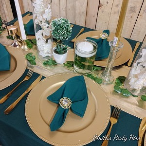 Green table decor edenvale