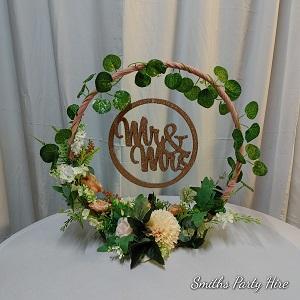 Mr & Mrs circle rose gold