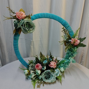 Wedding circle mint & dusty piunk