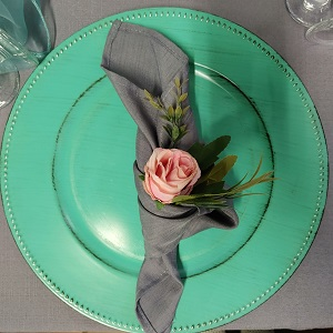 Grey napkin hire Springs