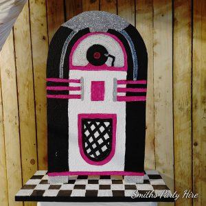 Juke box pink centrepieces