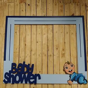 Baby shower photo frame