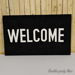 Welcome boards black