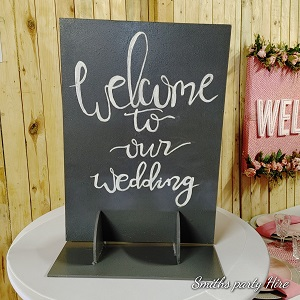 Welcome to our wedding decor