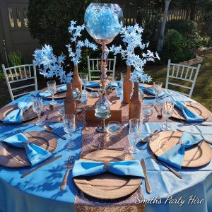 Rose gold table decor