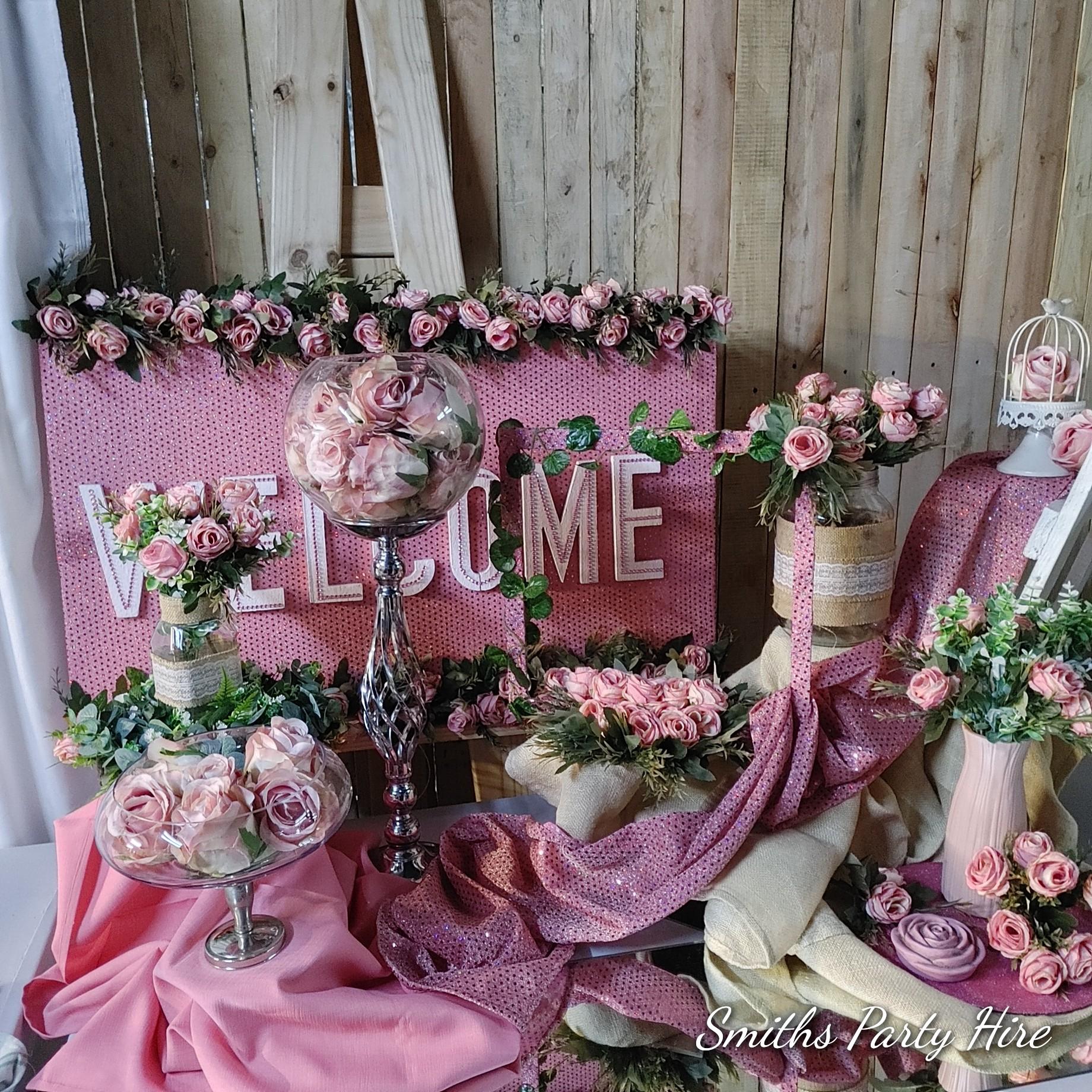 Pink wedding decor Springs