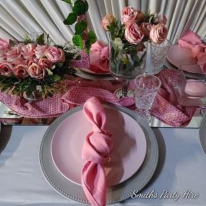 Dusty pink wedding decor Brakpan