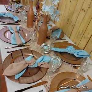 Rose gold table settings Germiston