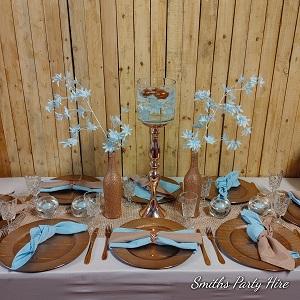 Rose gold table settings alberton